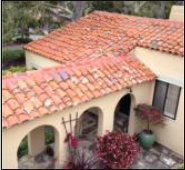 Restored clay tile roof