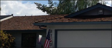 Restoration treated wood shake roof